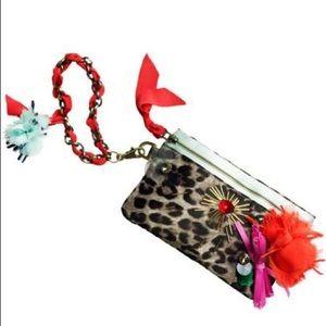 Lanvin for H&M Leopard Satin Wristlet Pouch